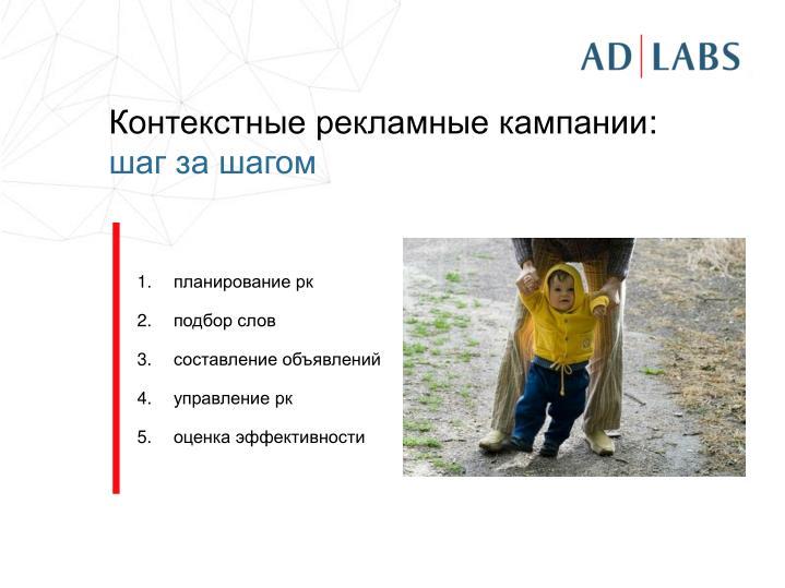 Контекстные рекламные кампании