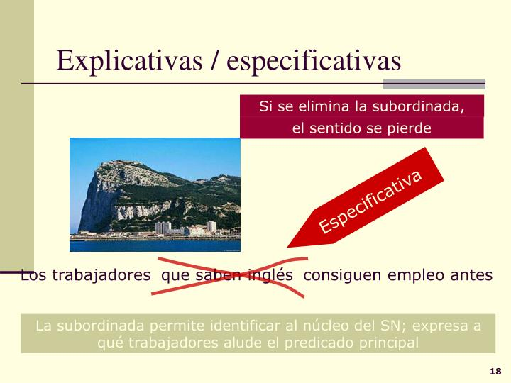 Explicativas / especificativas