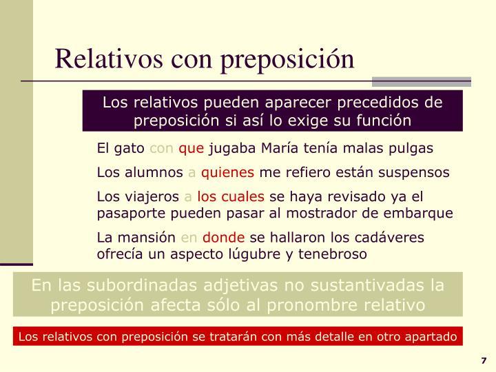 Relativos con preposición