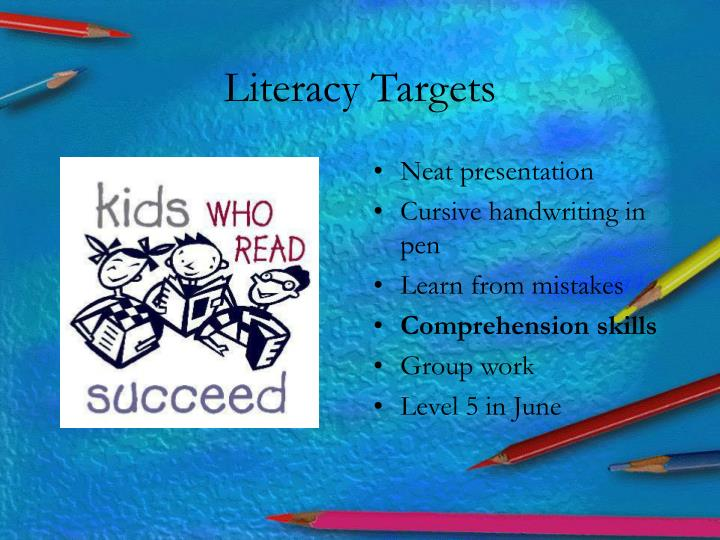 Literacy Targets
