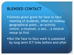blended contact