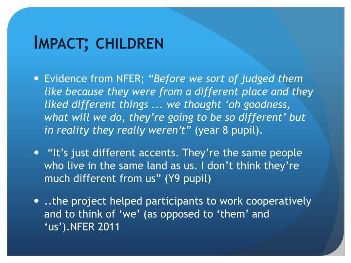 Impact; children
