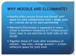 why moodle and elluminate