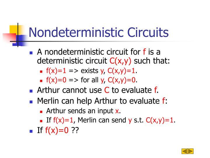 Nondeterministic Circuits