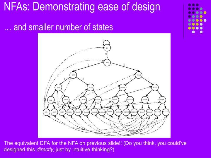 NFAs: Demonstrating ease of design