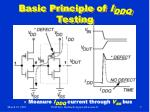 basic principle of i ddq testing