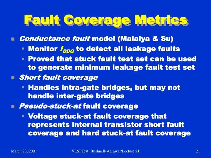 Fault Coverage Metrics