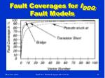 fault coverages for i ddq fault models