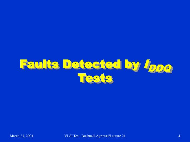 Faults Detected by