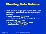 floating gate defects