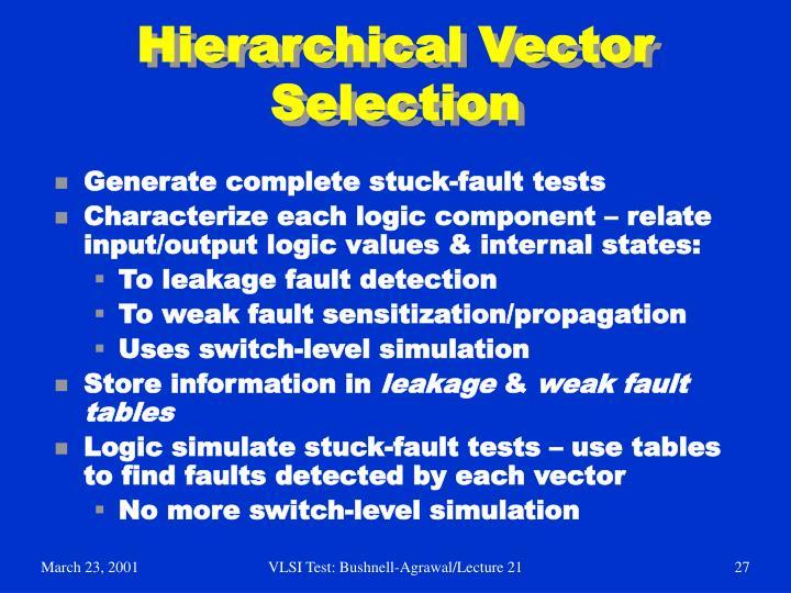 Hierarchical Vector Selection
