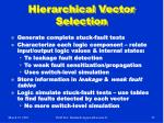 hierarchical vector selection