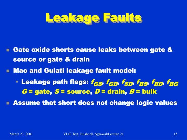Leakage Faults