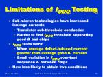 limitations of i ddq testing