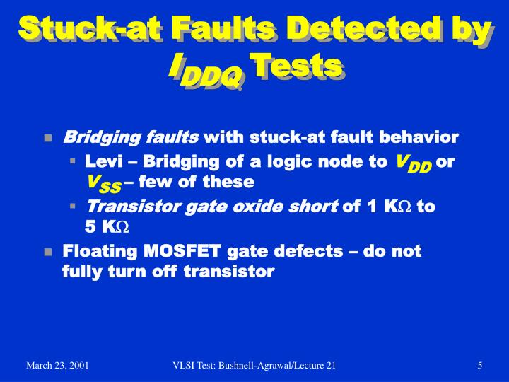 Stuck-at Faults Detected by