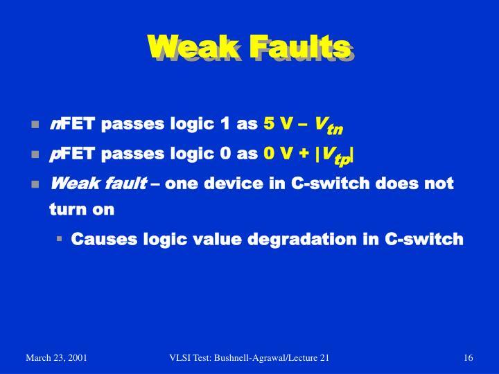 Weak Faults