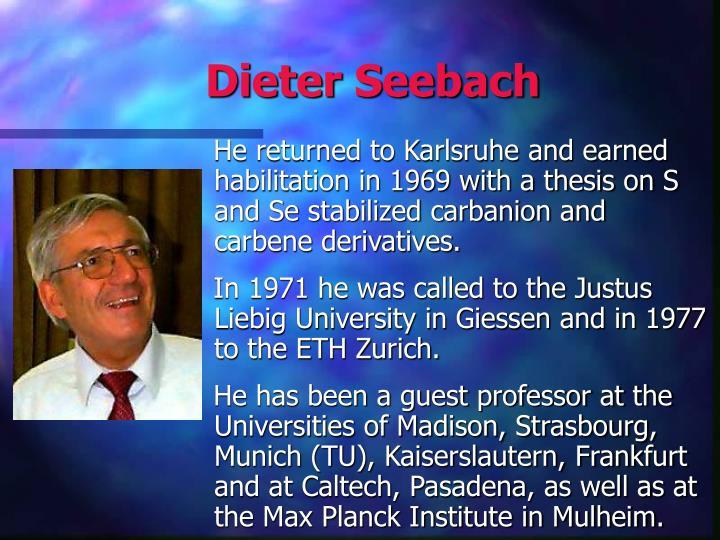 Dieter Seebach