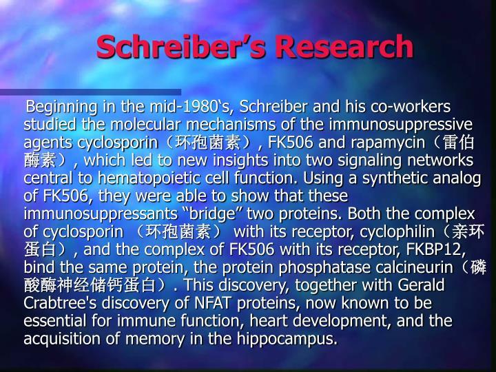 Schreiber's Research