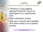coepra comparative evaluation of prediction algorithms