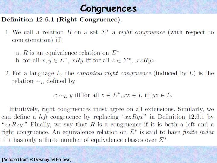Congruences