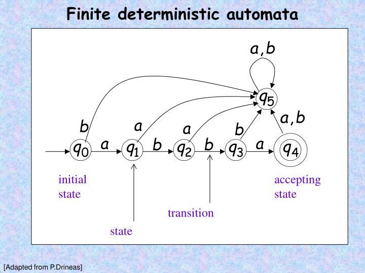 Finite deterministic automata