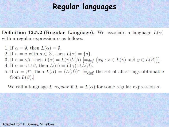 Regular languages