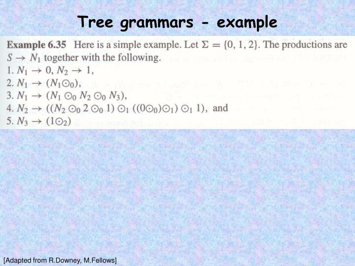 Tree grammars - example