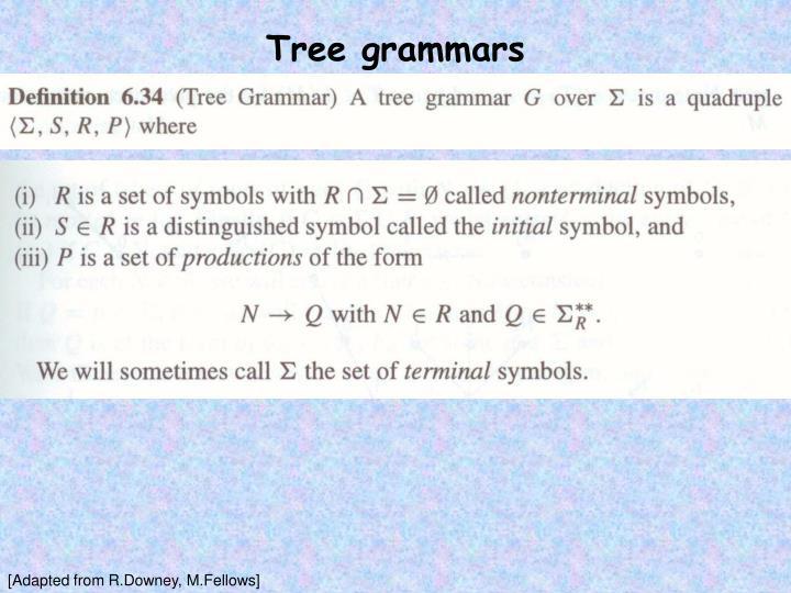 Tree grammars