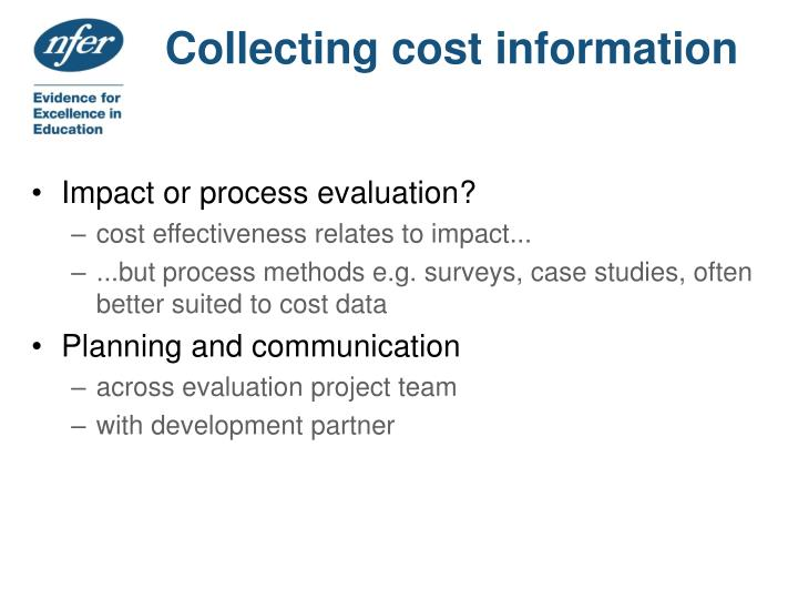 Collecting cost information