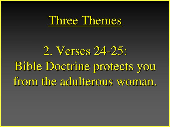 Three Themes