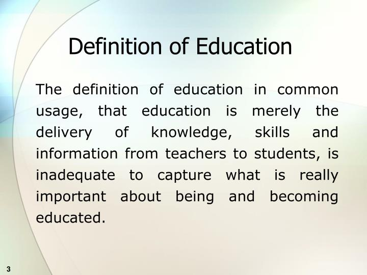 Definition of education