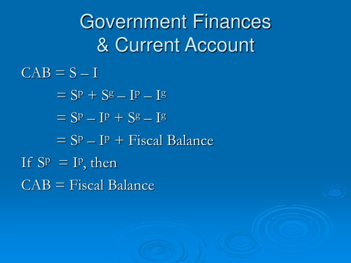 Government Finances