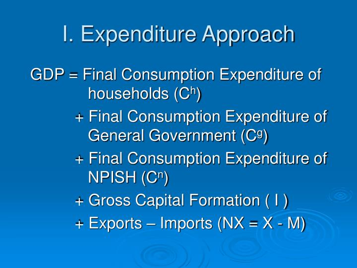 I. Expenditure Approach