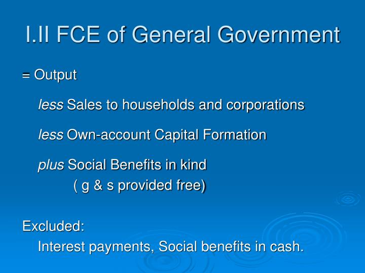 I.II FCE of General Government