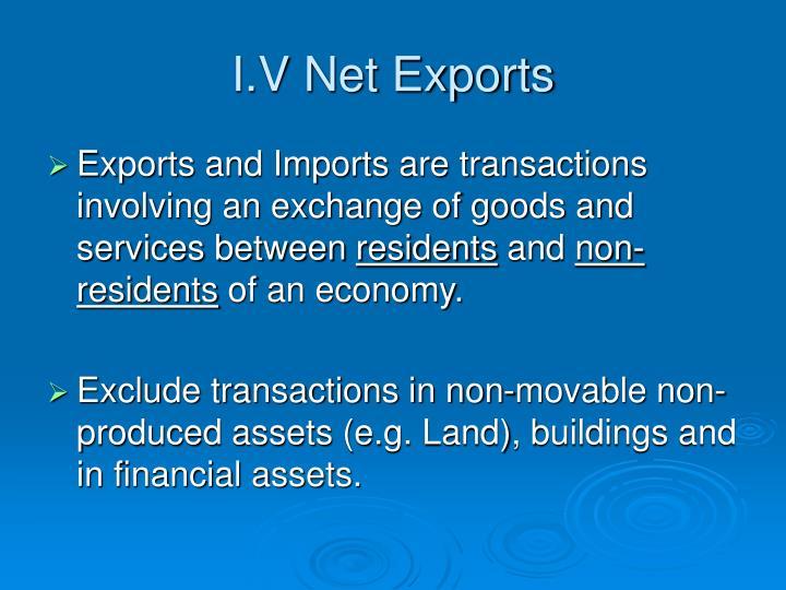 I.V Net Exports