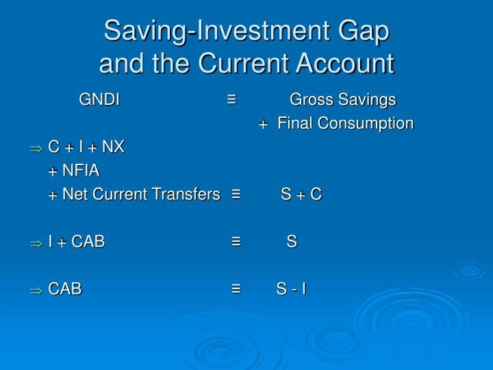 Saving-Investment Gap