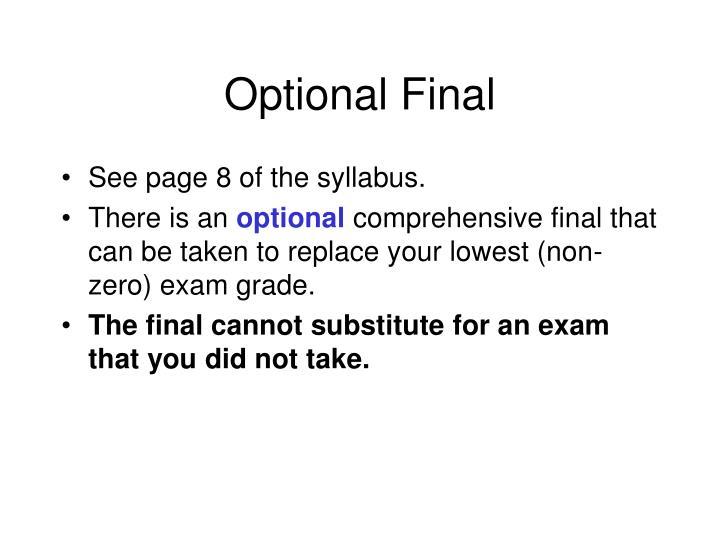 Optional Final