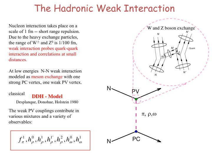 The Hadronic Weak Interaction