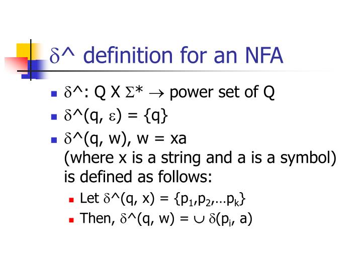 ^ definition for an NFA