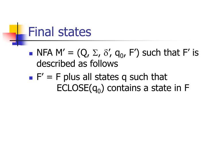 Final states