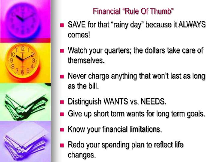 "Financial ""Rule Of Thumb"""