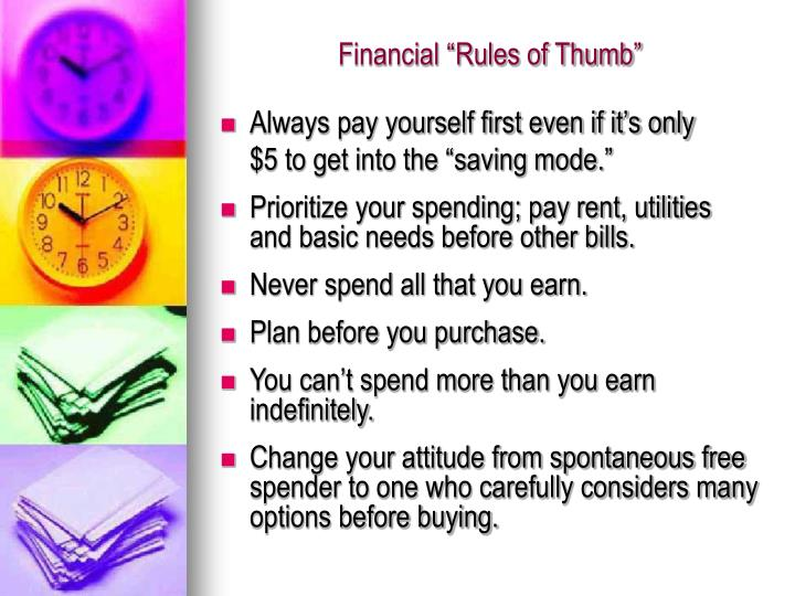 "Financial ""Rules of Thumb"""