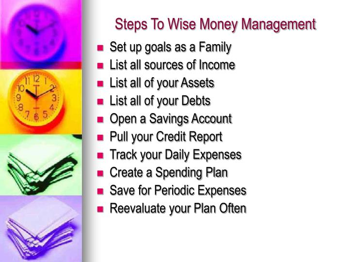 Steps To Wise Money Management