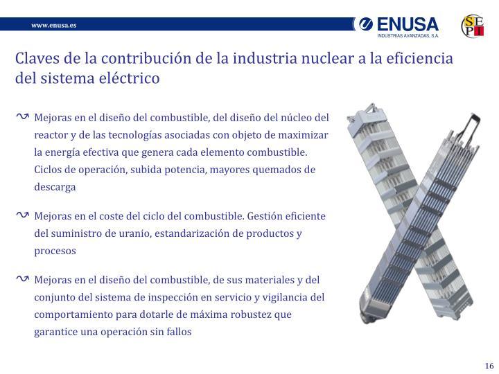 Claves de la contribución de la industria nuclear a la eficiencia del sistema eléctrico