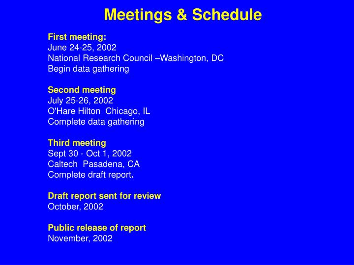 First meeting: