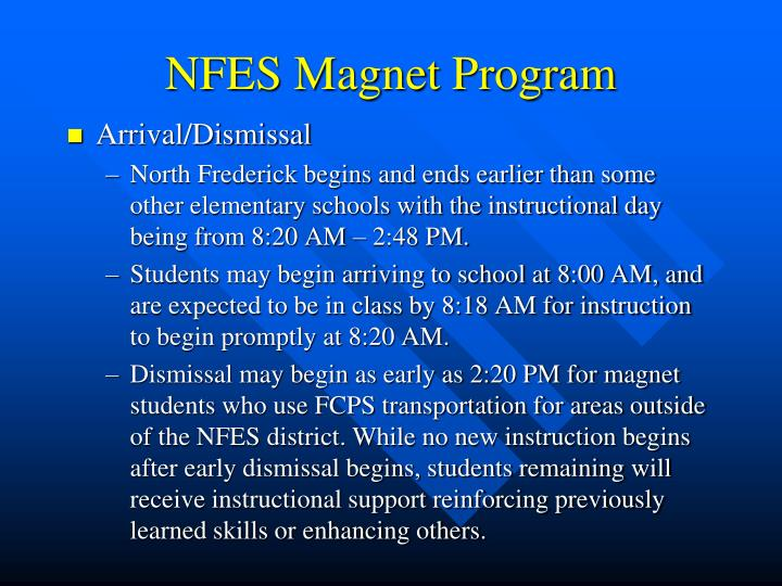 NFES Magnet Program