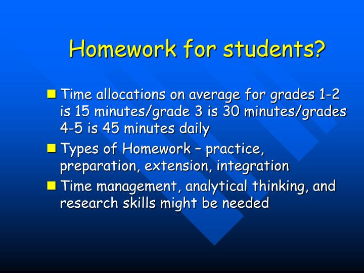 Homework for students?