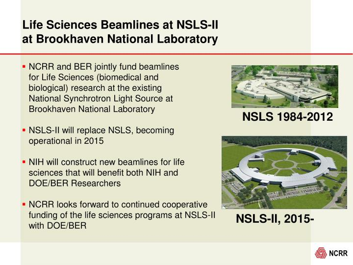 Life Sciences Beamlines at NSLS-II