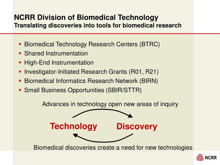 NCRR Division of Biomedical Technology