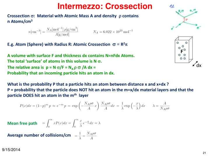 Intermezzo: Crossection